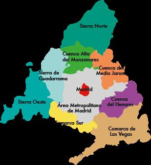 Mapa De Madrid Y Sus Provincias.Espana Comunidades Autonomas Y Ciudades Con Estatuto De